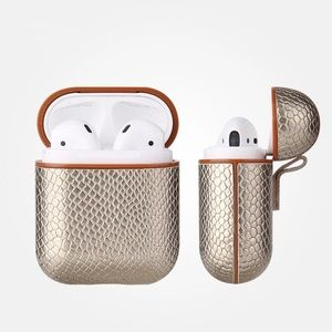 Accessories - NWT Gold Snakeskin AirPod Charging Case.